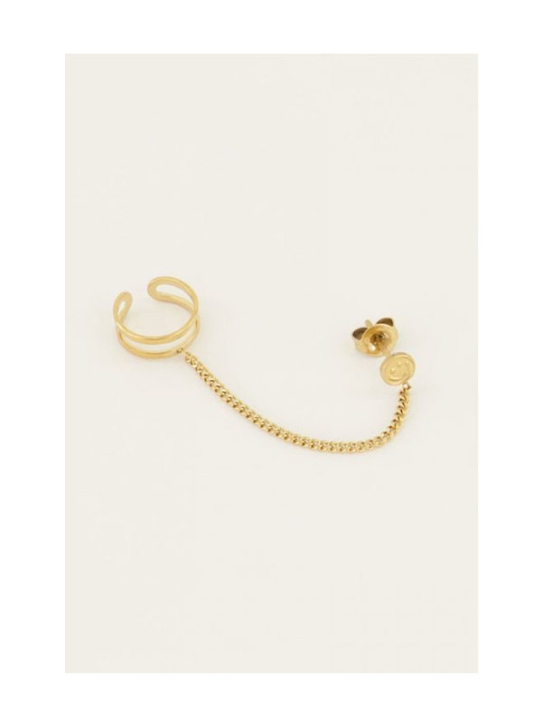 My Jewellery Ear Cuff Smiley Gold