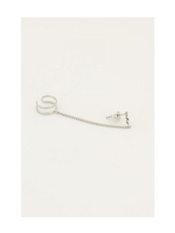 My Jewellery My Jewellery Ear Cuff 3 Dots Stud Silver