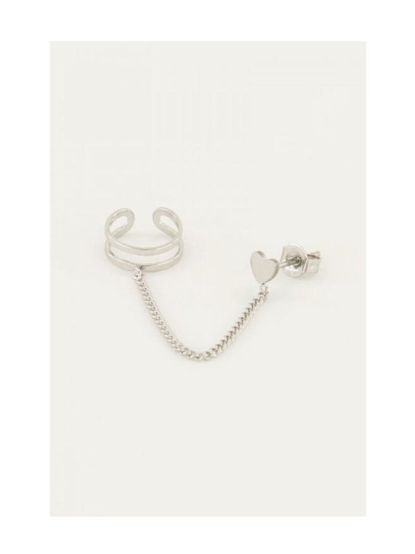 My Jewellery Ear Cuff 3 Dots Stud Silver