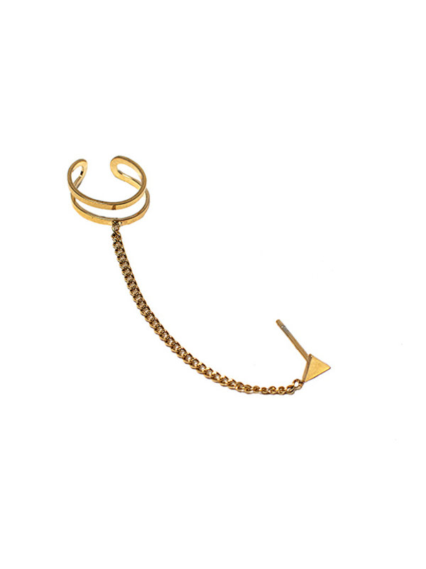 My Jewellery Ear Cuff Driehoek Stud Goud