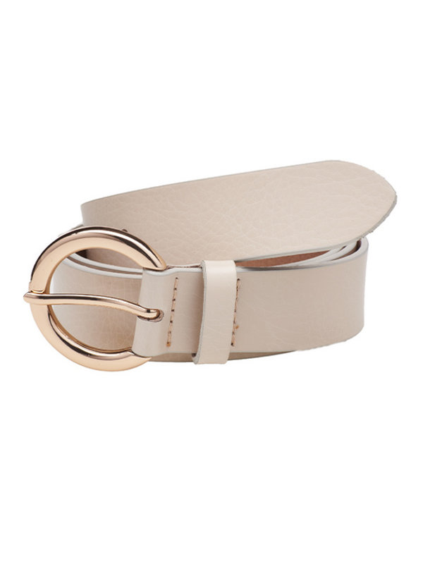 Elvy Plaine Belt Ecru