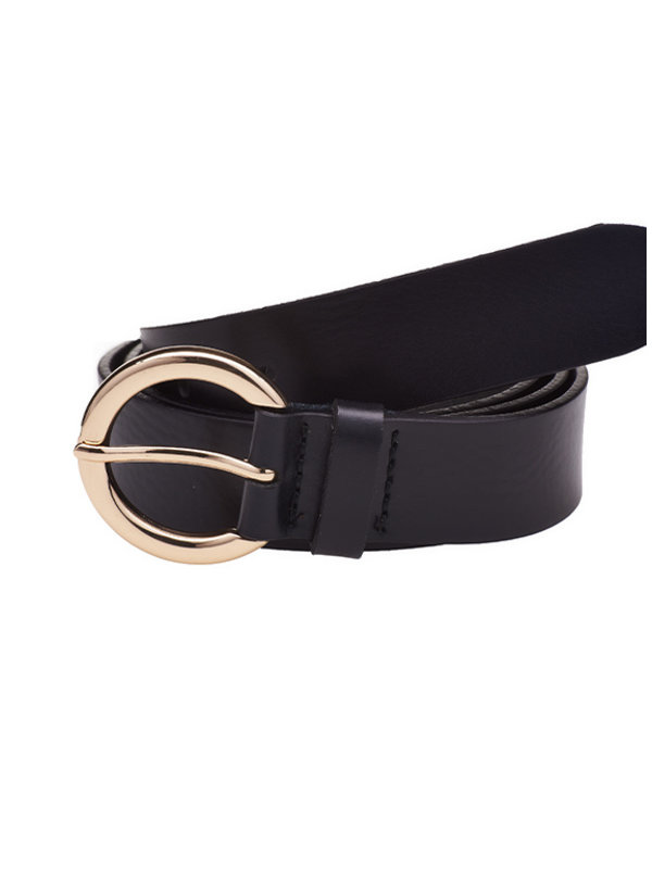 Elvy Plaine Belt Black