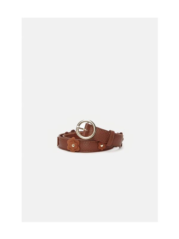 Flower Belt Cognac