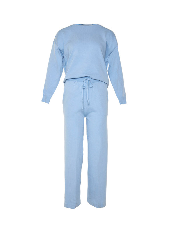 By Sara Collection Comfy Suit Light Blue OS