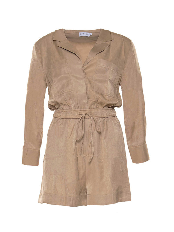 By Sara Collection Tori Jumpsuit Beige