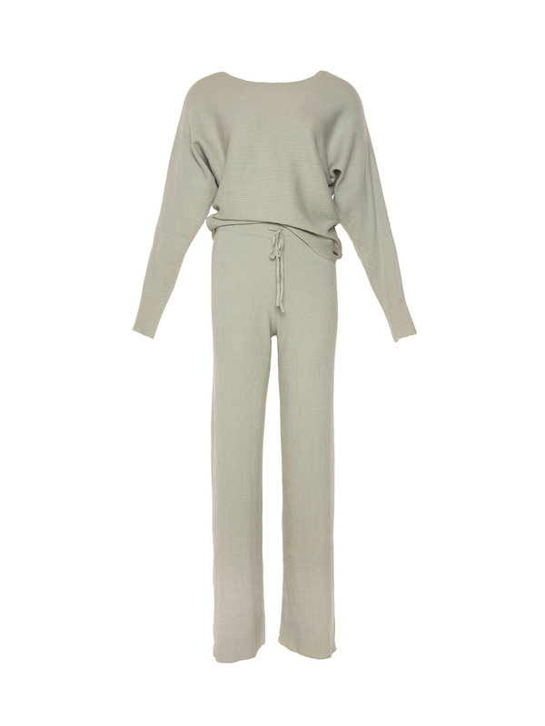 By Sara Collection Comfy Suit Green Pastel