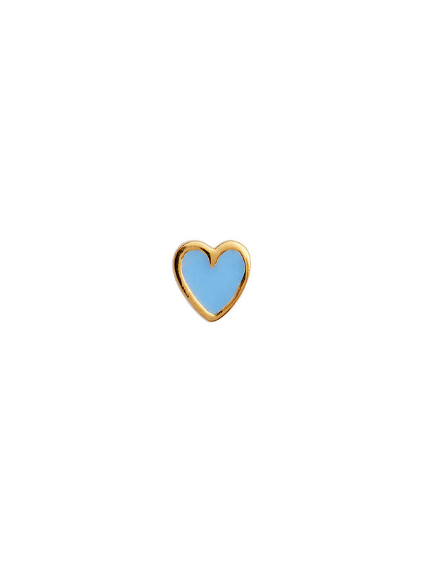 Stine A Petit Love Heart Light Blue Enamel Gold