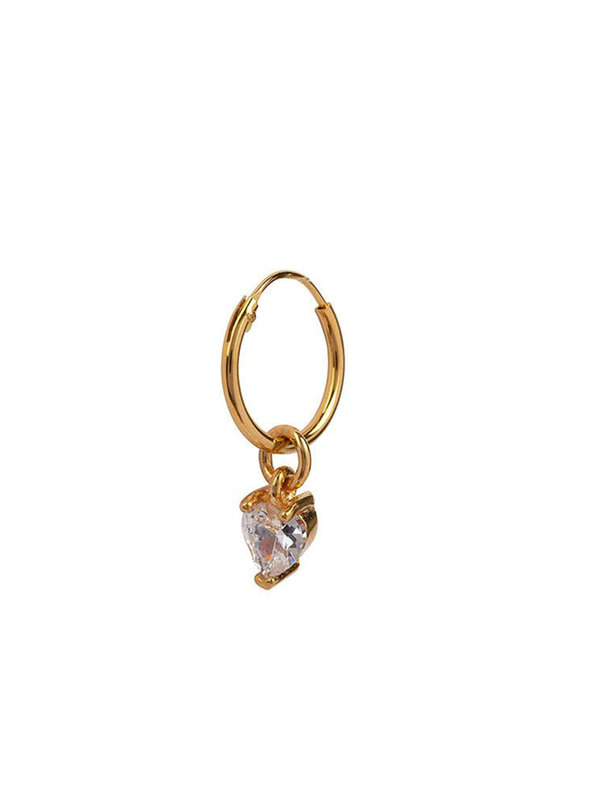 Bobby Rose Swarovski Heart Gold