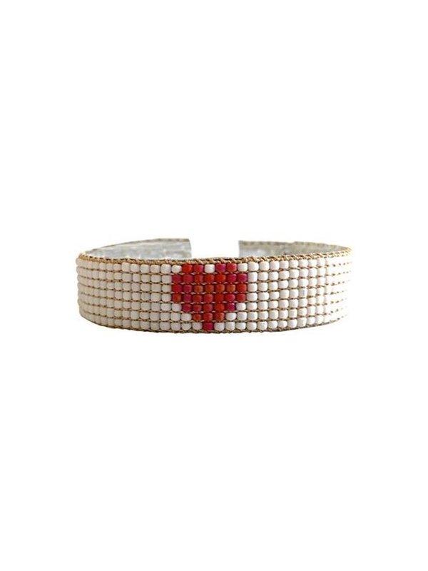 Ibu Jewels Bracelet Happy Big Heart Coral
