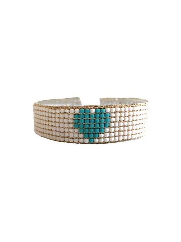 Ibu Jewels Bracelet Happy Big Heart Turquoise