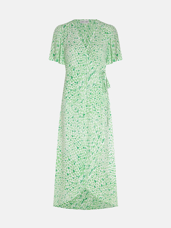 Fabienne Chapot Archana Sleeve Dress Cream White/Sea Green Love Stream