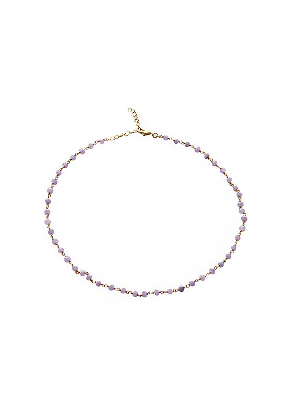 I Am Jai Kettel Necklace Purple Jade