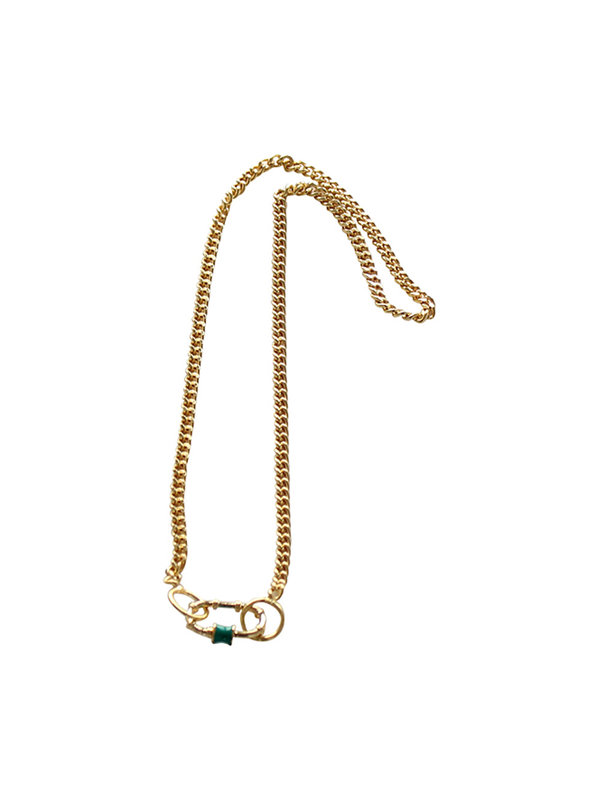 Necklace Green Clasp 45 - 55 cm