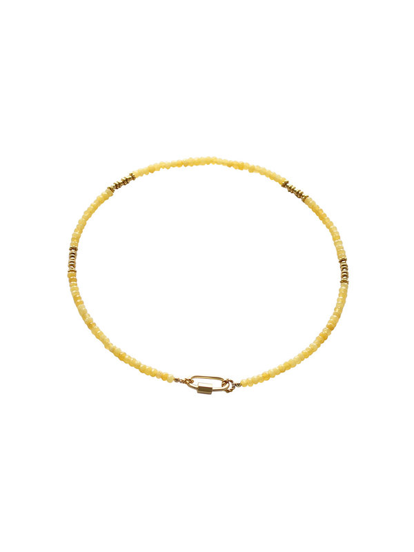 I Am Jai Necklace With Clasp For Charms Yellow Onyx