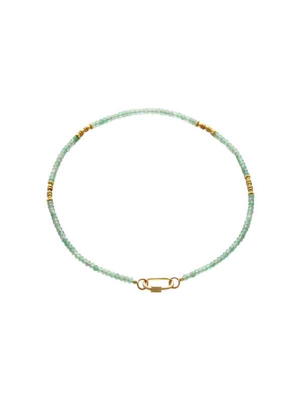 I Am Jai Necklace With Clasp For Charms Green Jade