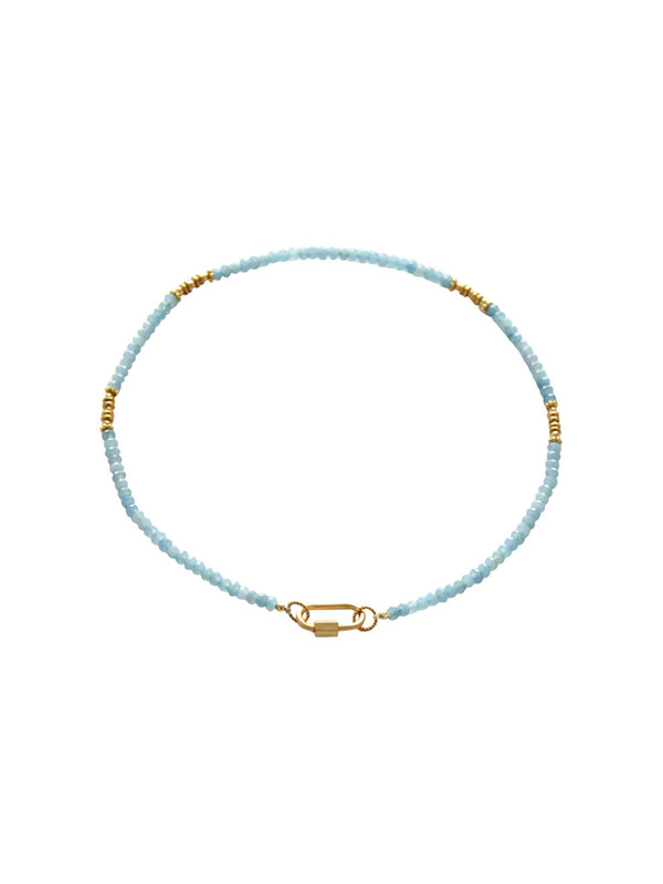 I Am Jai Necklace With Clasp For Charms Blue Jade