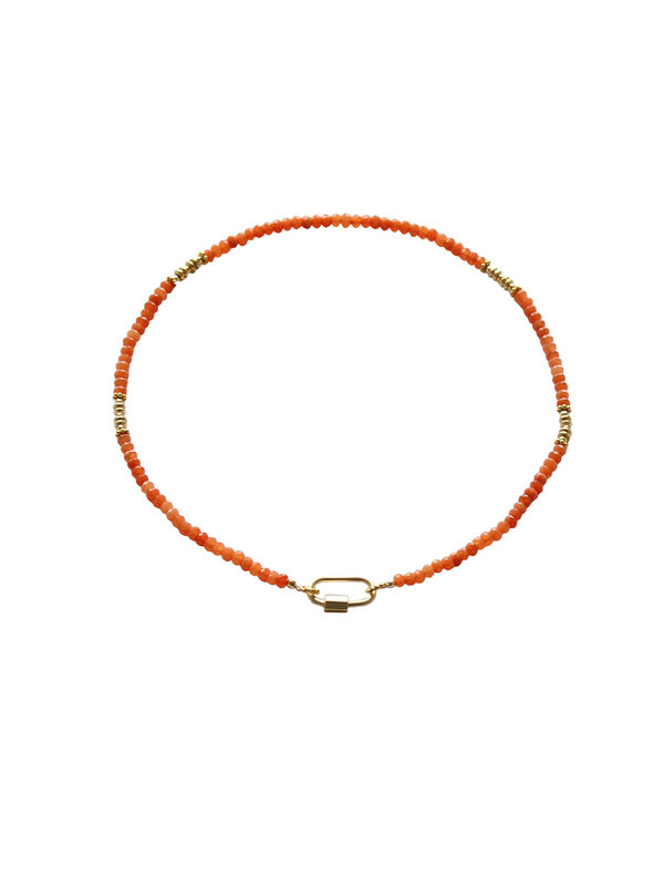 I Am Jai Necklace With Clasp For Charms Carnelian
