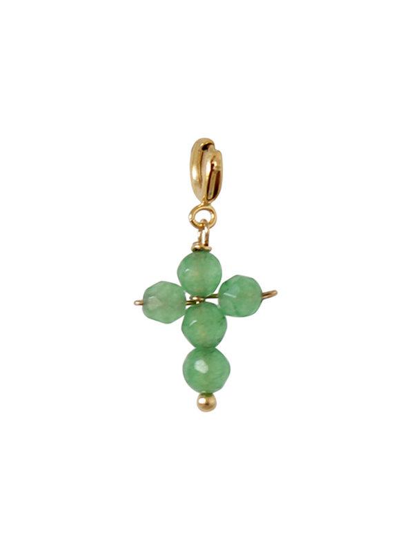 I Am Jai Charm Cross Beads Jade