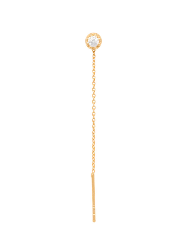 Eline Rosina Zirconia Threader Gold Plated