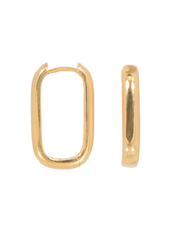 Eline Rosina Icon Hoops Gold Plated
