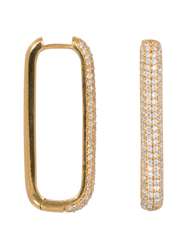 Eline Rosina Large Icon Pavé Hoop Gold Plated