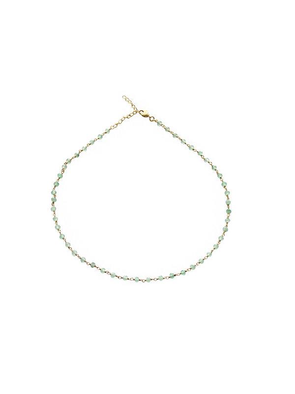 I Am Jai Kettel Necklace Green Jade
