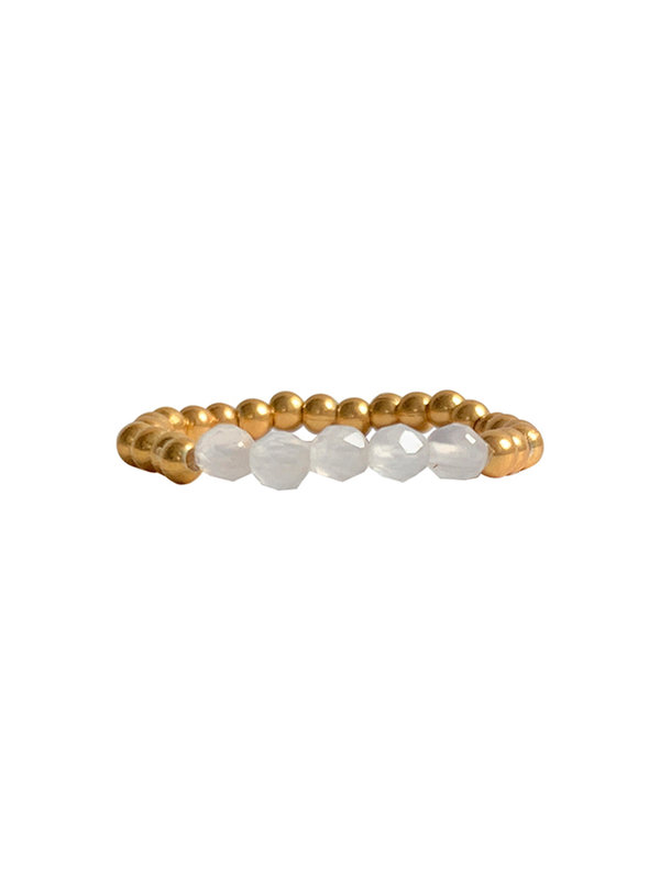 Ibu Jewels Ring Round Stones Moonstone