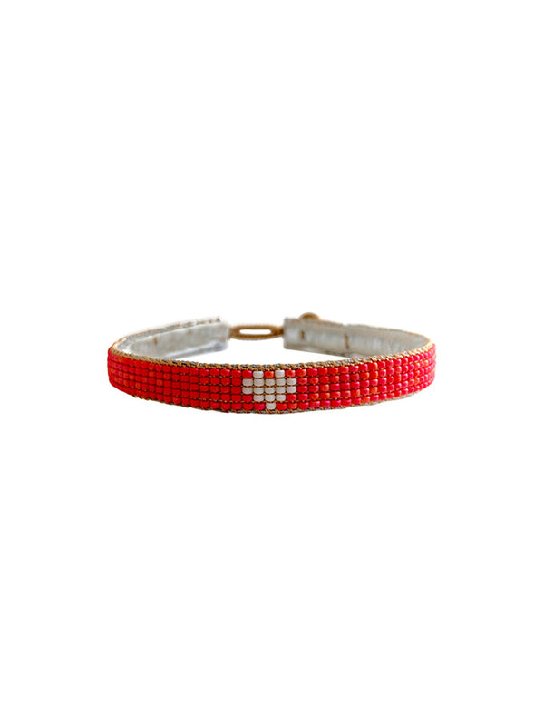 Ibu Jewels Bracelet Happy Small Heart Coral
