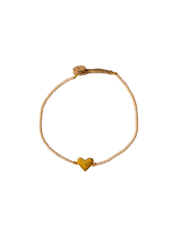 Ibu Jewels Bracelet Lulu Little Heart Cream