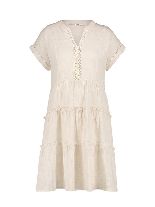 Aaiko Manur Dress Creme Wit