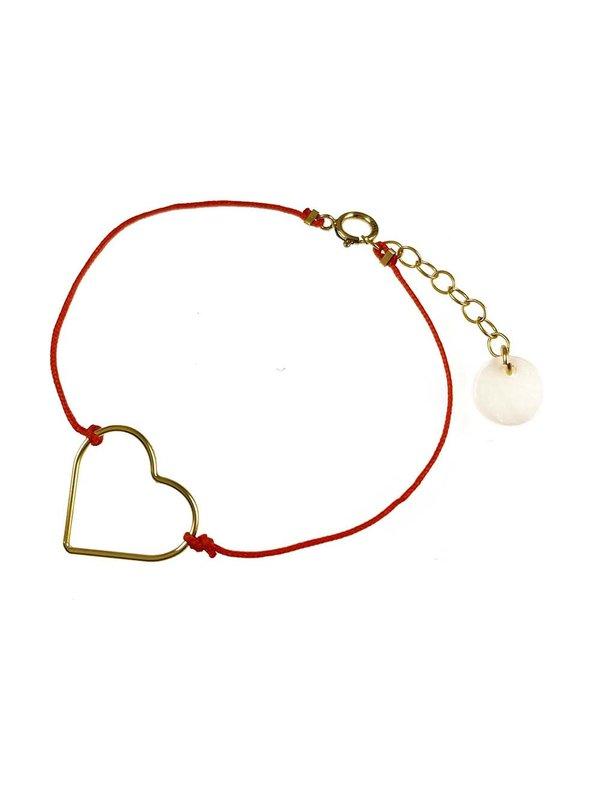 Blinckstar Bracelet Heart Orange Cord