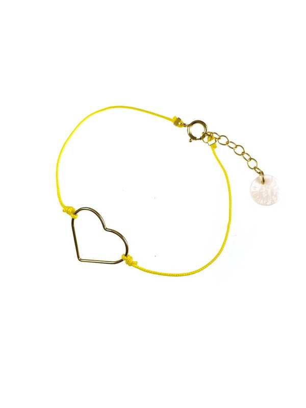 Blinckstar Bracelet Heart Lemon Cord