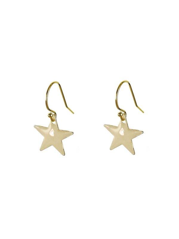 Blinckstar Oorbellen Hook White Star