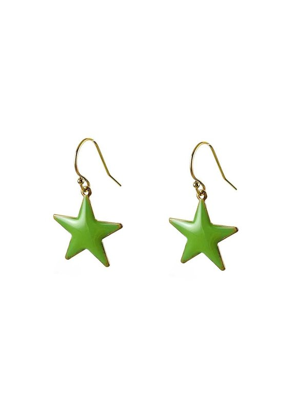 Blinckstar Oorbellen Hoop Mint Star