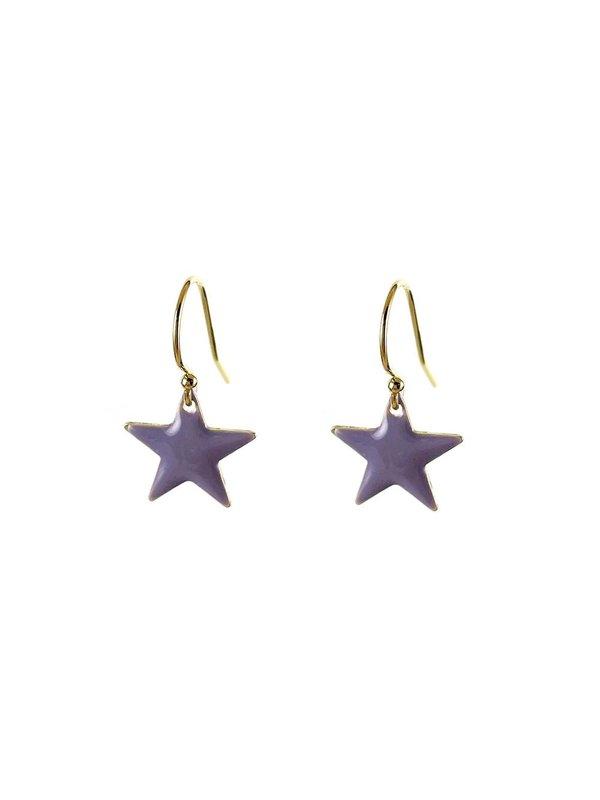 Blinckstar Oorbellen Hook Lavender Star