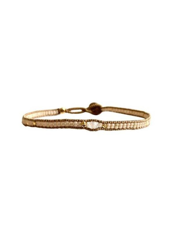 Ibu Jewels Bracelet Jill 3 Stone Cream
