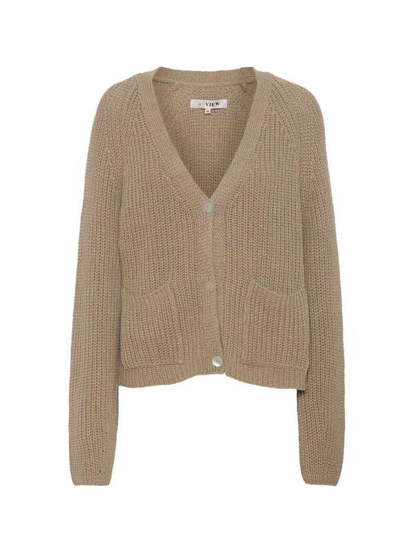 A-view Renee Knit Cardigan Sand