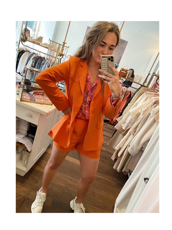 By Sara Collection Marina Blazer Orange