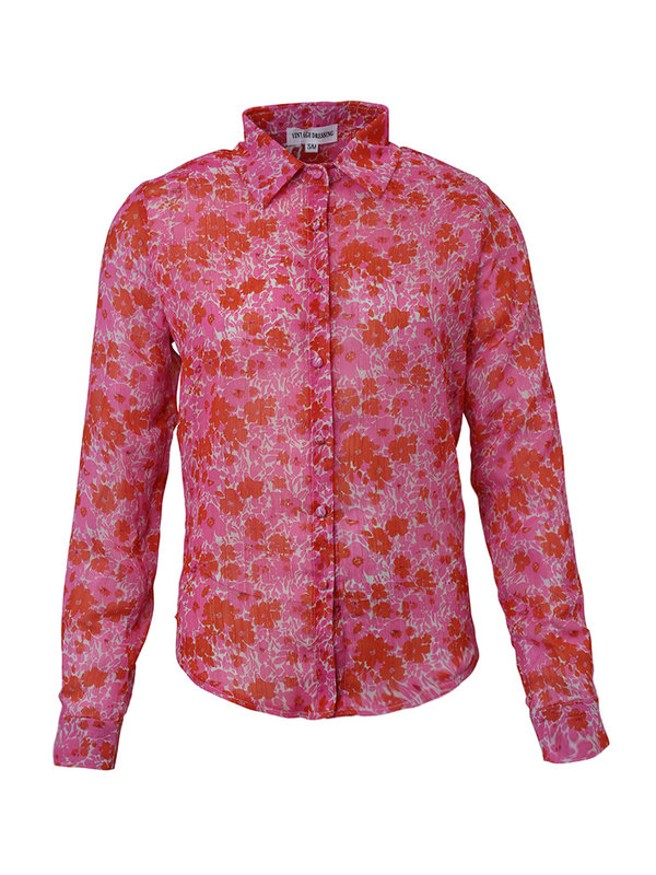 By Sara Collection Jade Flower Blouse