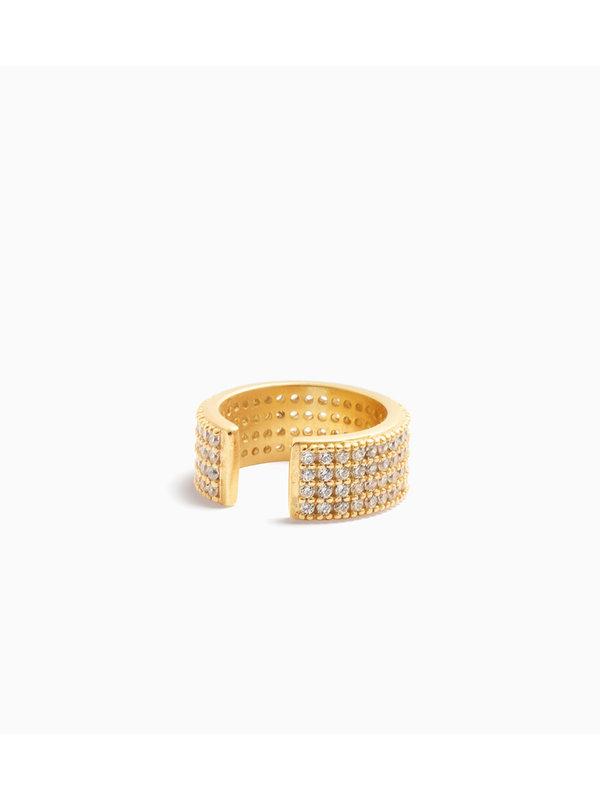 Eline Rosina Pavé Ear Cuff Gold Plated