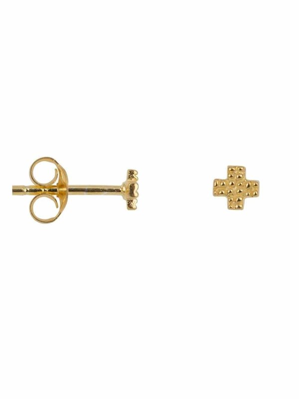Betty Bogaers Dotted Plus Stud Earring Gold Plated