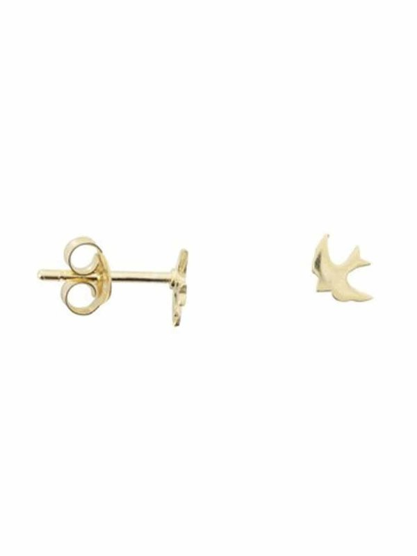 Betty Bogaers Little Swallow Stud Earring Gold Plated