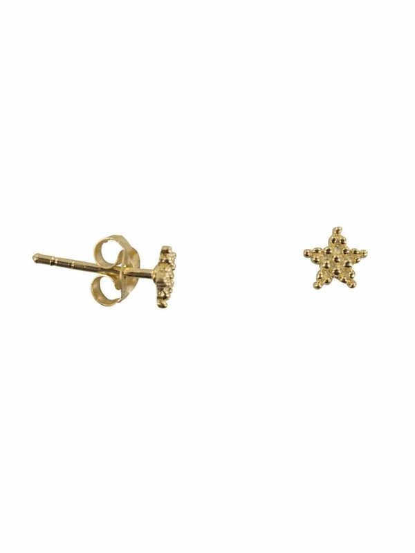 Betty Bogaers Dotted Star Stud Earring Gold Plated