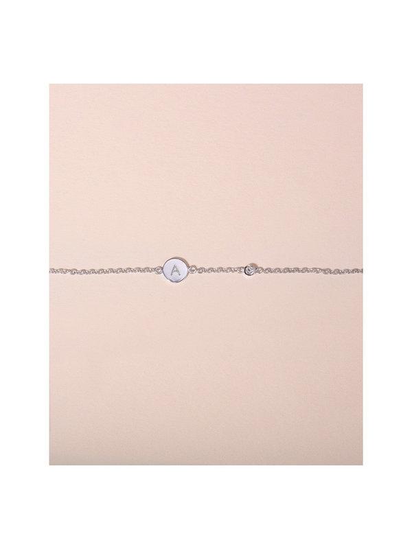 Galore Circle & Diamond Bracelet Silver