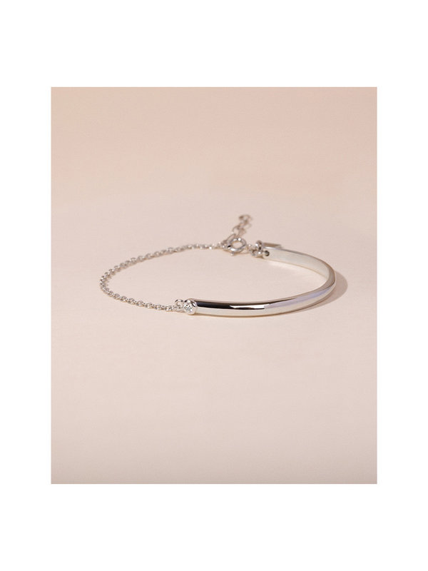 Galore Fifty Fifty Diamond Bracelet Silver