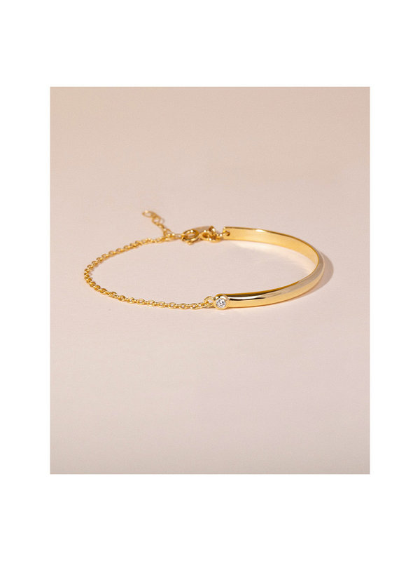 Galore Fifty Fifty Diamond Bracelet Gold Plated