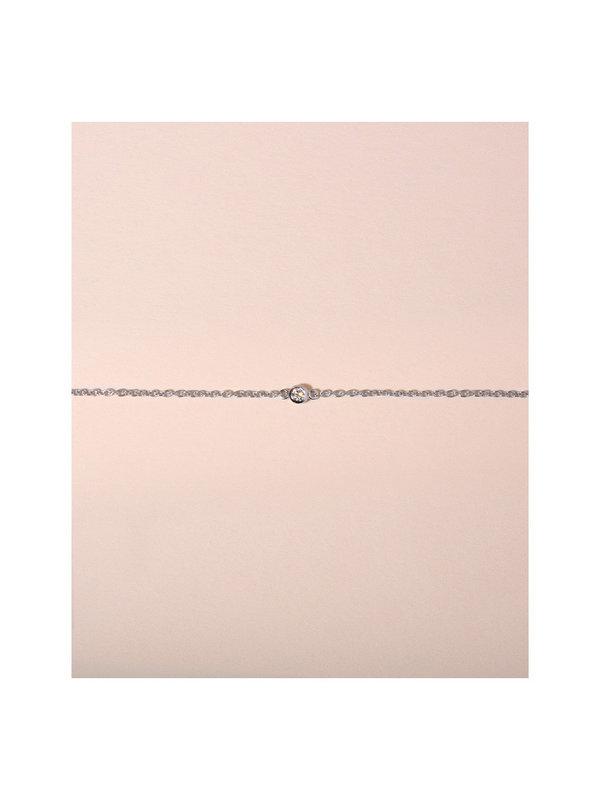 Galore Single Diamond Bracelet Silver