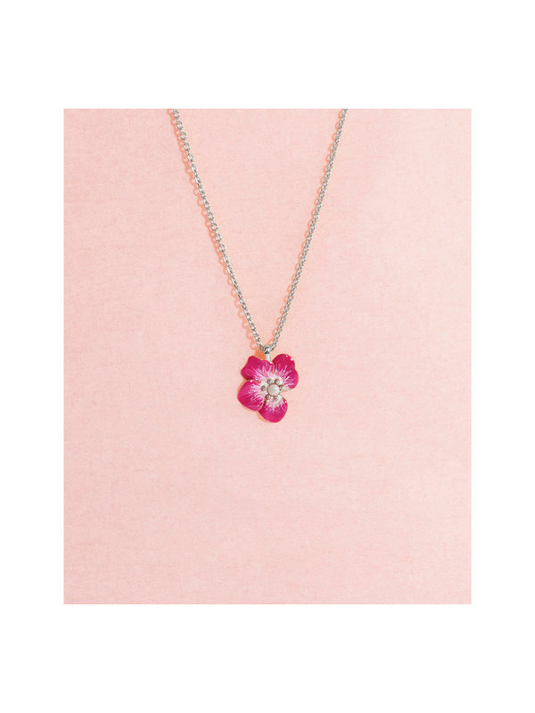 Galore Part of Me Necklace Rose Silver