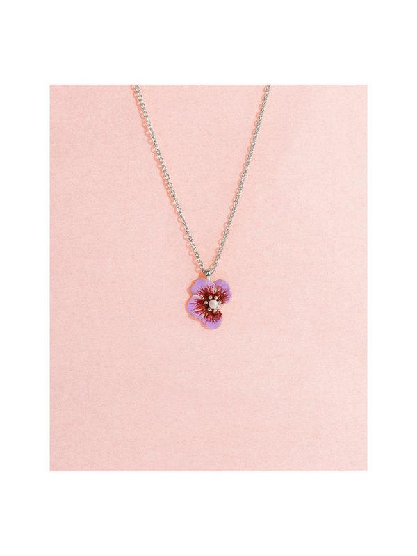 Galore Part of Me Necklace Violet Silver