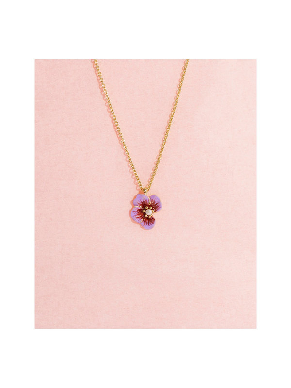 Galore Part of Me Necklace Violet Gold Plated